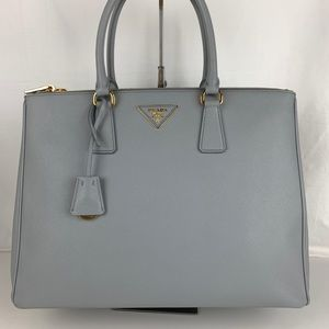 New Prada Italian Galleria Lux Double Zip Tote